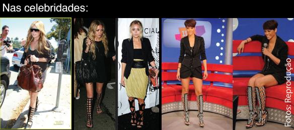 3-como-usar-sandalia-cano-alto-longo-sapato-modelo-gladiador-gladiadora-desfile-passarela-celebridades-Mary Olsen-Ashley-Tisdale-Rihanna