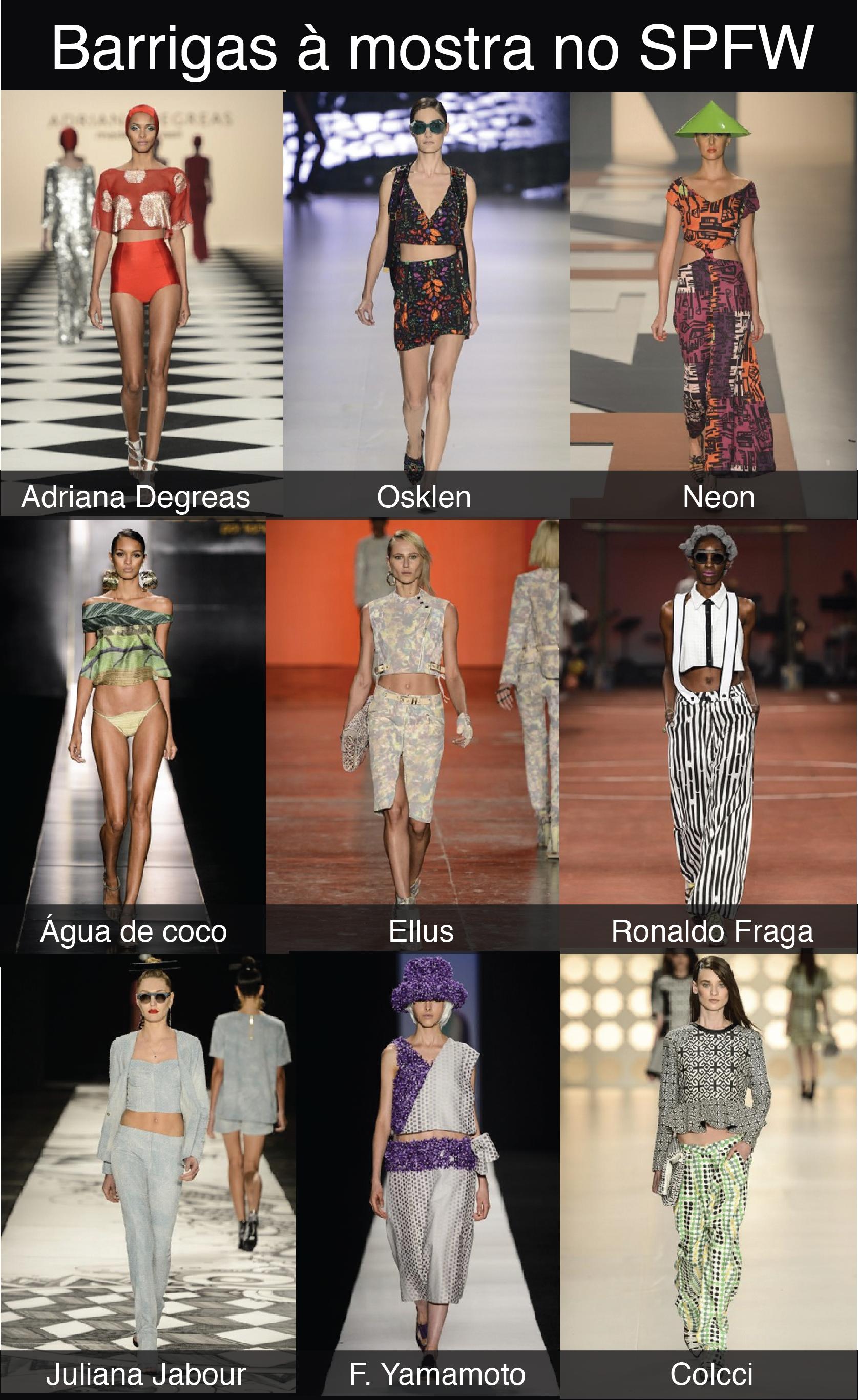 0e242be9d Barriga de fora – SPFW Verão 2014   Blog de moda do Brechó ...