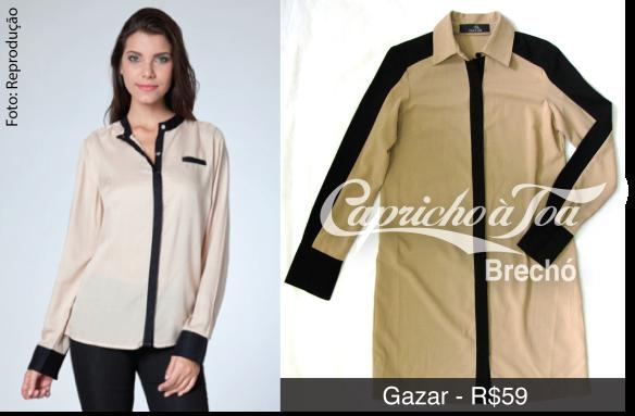 2-bicolor-p&b-preto-e-bege-black-and-beige-nude-vestido-jaqueta-camisa-duas-cores-look-como-usar-gazar-calvin-klein-gloria-coelho-brecho
