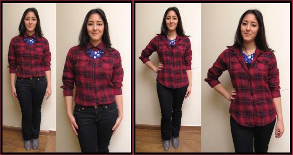 1-look-do-dia-camisa-xadrez-como-usar-6-maneiras-jeitos-dicas-truques-zara-bota-cinza-jeans-tory-burch-mixed-brecho