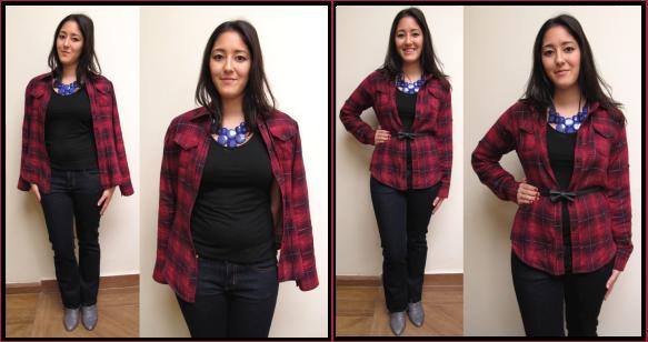 2-look-do-dia-camisa-xadrez-como-usar-6-maneiras-jeitos-dicas-truques-zara-bota-cinza-jeans-tory-burch-mixed-brecho