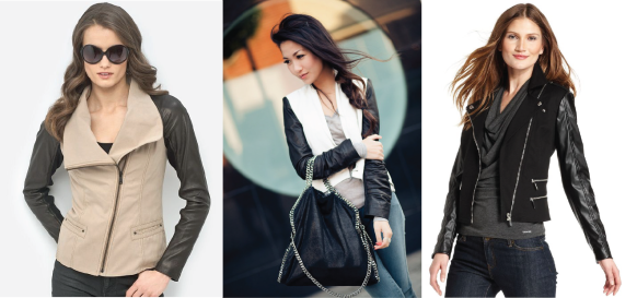 2-jaqueta-com-manga-de-couro-natural-ecologico-sintetico-leather-sleeves-zara-white-black-jacket-handm-mixed-preco-brecho