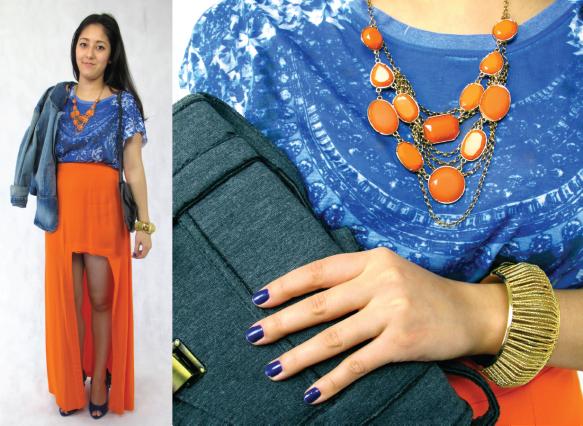 2-look-estampa-deazulego-camiseta-fhits-saia-longa-fenda-laranja-colar-blazer-jaqueta-jeans-pop-up-store-tendencia-brecho