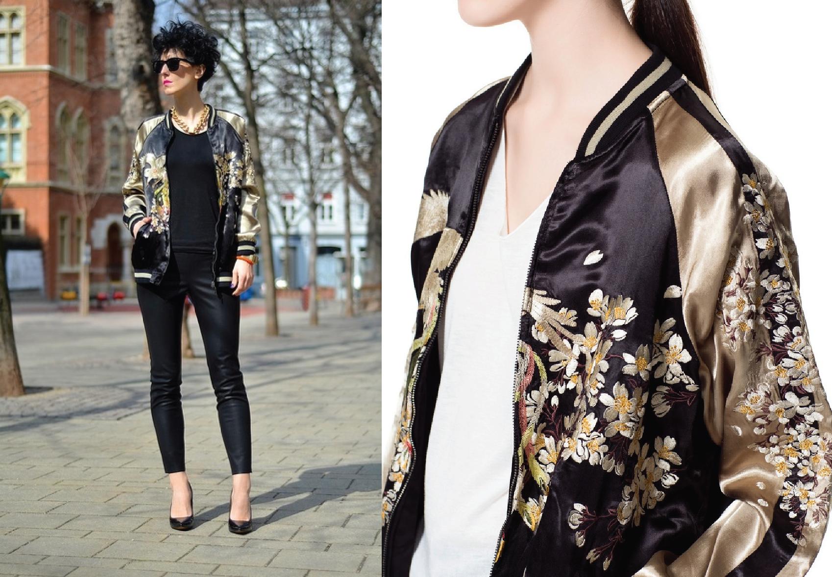 Bomber jacket – Estampa oriental | Blog de moda do Brechó Capricho ...