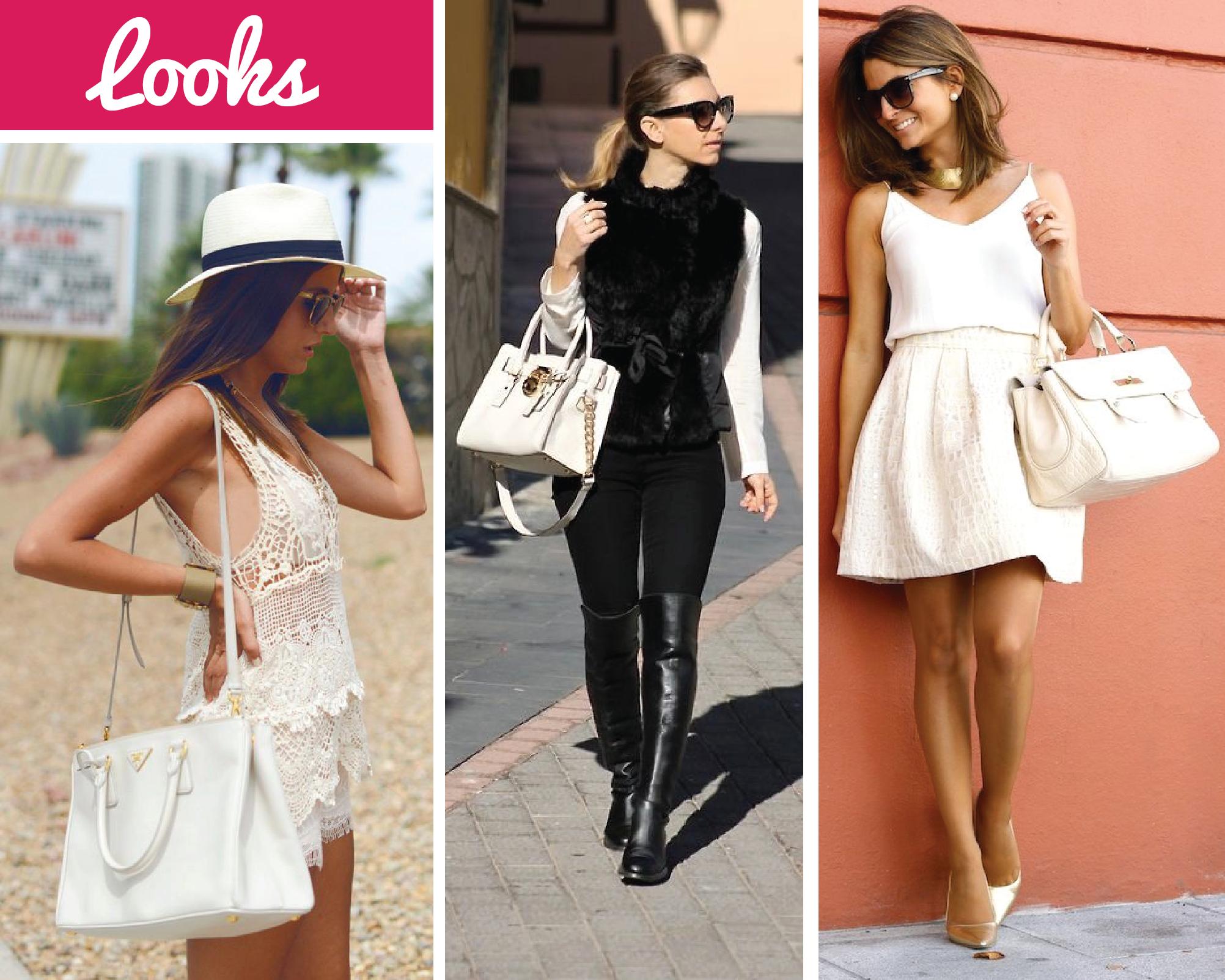 Bolsa De Festa Branca : Tend?ncia bolsa branca de moda do brech? capricho