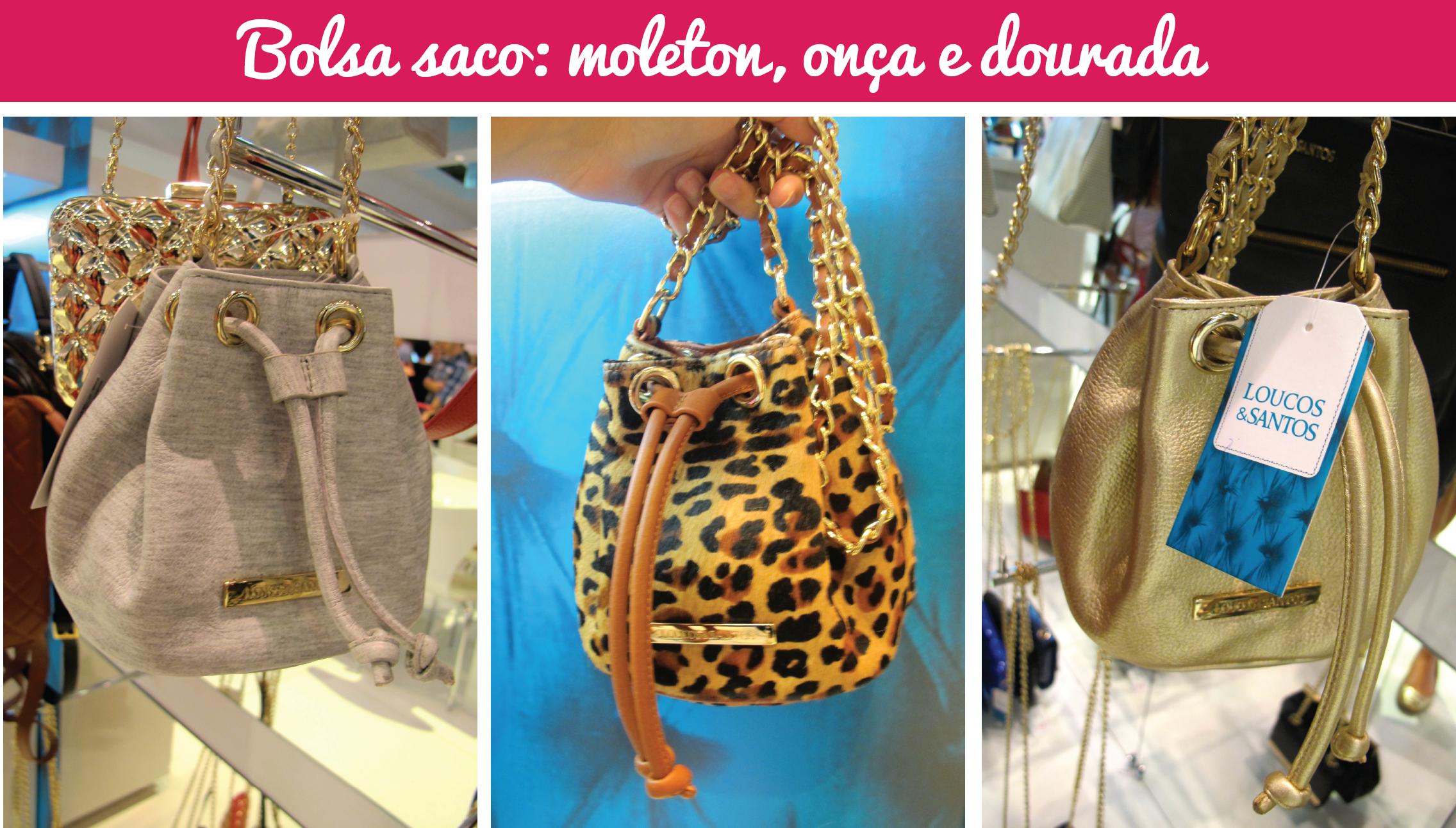bce24bd5a Couromoda 2015: Bolsa saco | Blog de moda do Brechó Capricho à Toa
