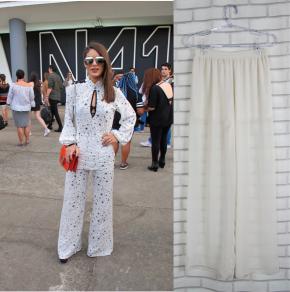 "6e05ad27b SPFW N41  Conjunto ""pijama"" na passarela"