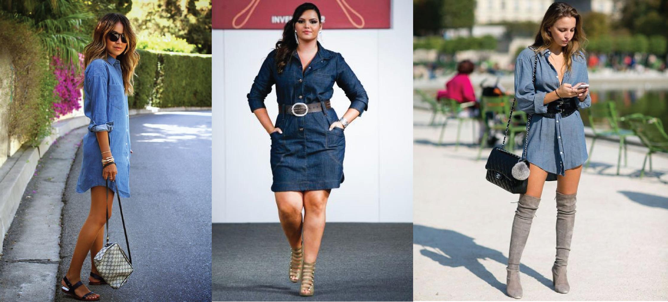 Jaqueta jeans de usar com vestido