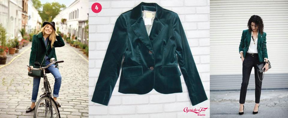 3-blazer-veludo-velvet-look-dica-como-usar-brilho=plus-size-preto-verde-azul-brecho