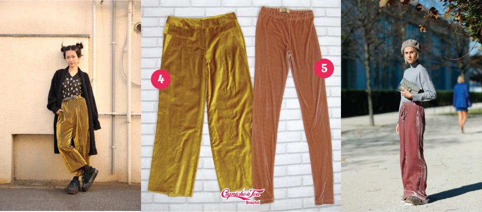 4-calca-veludo-velvet-pants-gold-dourado-preta-azul-jeans-look-dica-como-usar-brecho