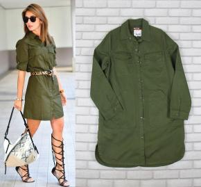 0-vestido-camisa-militar-verde-musgo-escuro-shirt-dress-dica-como-usar-kendall-jenner-look-marca-brecho