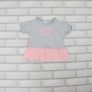 Vestido Cinza com Rosa CARTERS (9meses) R$15
