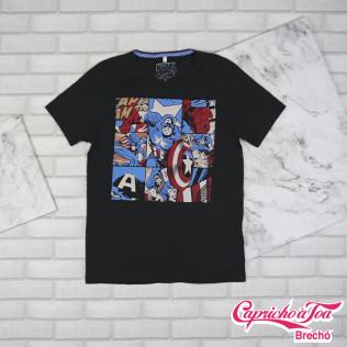 Camiseta #Marvel (P) R$20 - Masculina