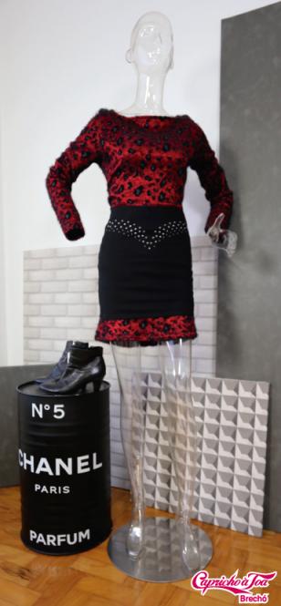 Look 4 Vestido MORENA ROSA (M) R$79 | Saia ZARA (M) R$20 | Bota AREZZO (36) R$129