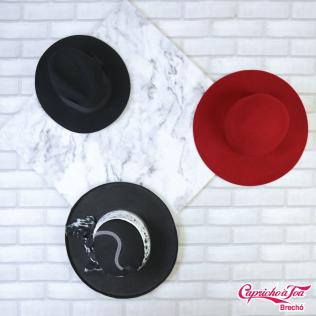 6. Chapéus: preto #dzarm R$15 | vermelho R$10 | com lenço R$15