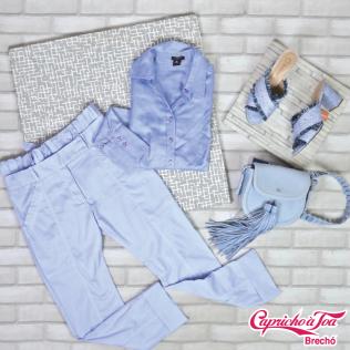 Camisa #ANNTAYLOR (P) R$49 | Calça #CRISBARROS (36) R$49 | Bolsa #SCHUTZ R$99 | Mule #BEBECE (38) R$59
