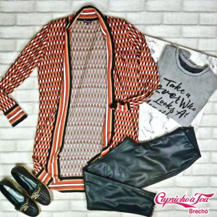 Cardigan #LELISBLANC (P) R$89 | Camiseta #TALIENK (M) R$49 | Calça #ZARA (M) R$29 | Alpargata (35) R$59