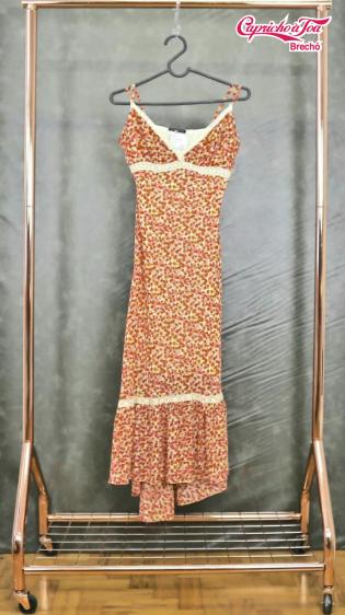 Vestido Midi Floral Liberty #OPERAROCK (42) R$29