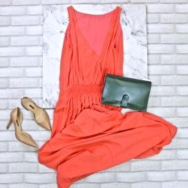 Vestido #Animale (M) R$129 100% Seda   Bolsa #Zara R$82,80   Sapato #Corello (35) R$70,80